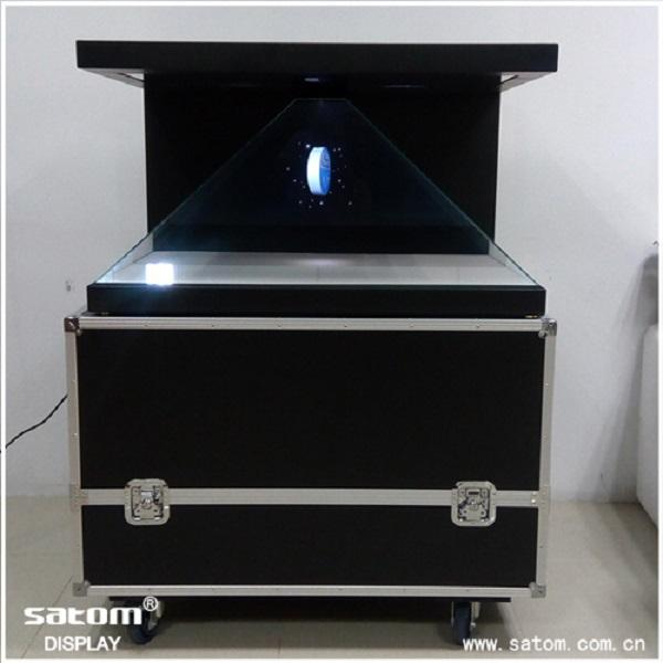 "32"" High Tech 3D Hologram Display Stereo Sound Combined Holographic Showcase"