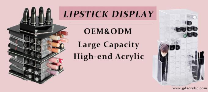 96 Component Acrylic Rotating Acrylic Lipstick Holder Display Stand