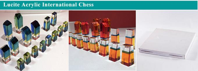 Custom Transparent Colorful Import Lucite Acrylic Chess Set
