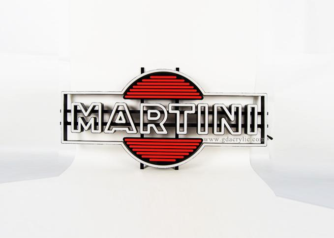 Wholesale Indoor Customized Brand Logo Red White Martini Large Neon Sign