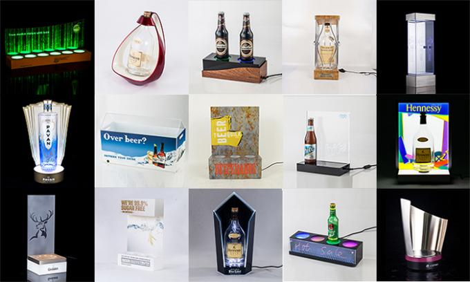 Hennessy High Brightness Lighted Exclusive Acrylic Bottle Glorifier Rotating Base Display