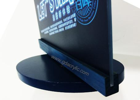 Rotating Base Table Top Display Signs Beer Advertising Creative Graphic Image Display Stand