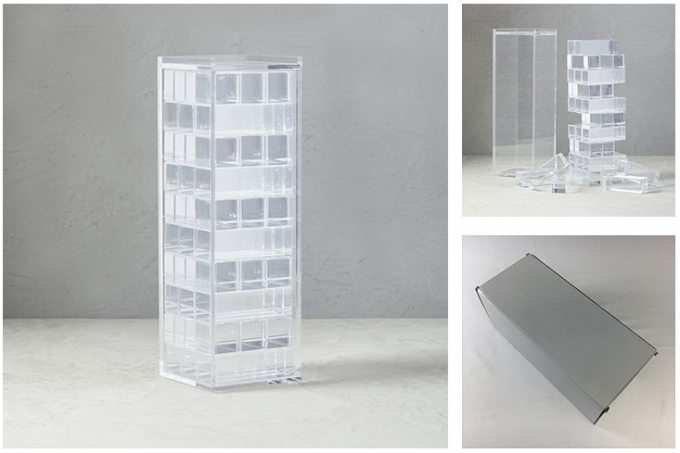 Wholesale Indoor Parlour Game Clear Lucite Acrylic Tumbling Tower