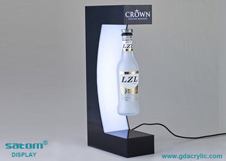 China Dynamic Lighting Magnetic Floating Bottle Display , 360 Degree Freely Rotating supplier