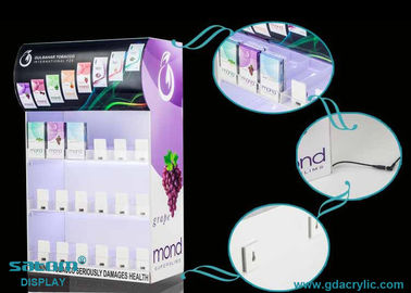 China Cigarette Display Stand With Gliding Pusher And Three Sides Of Advertising Images supplier
