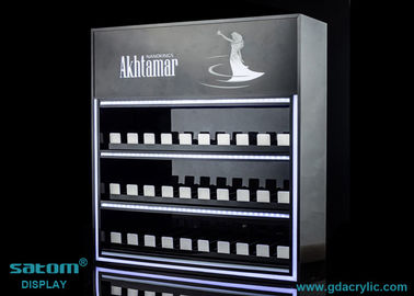 Good Quality Custom Neon Signs & Custom Three Layers Cigarette Display Cabinet With Gliding Dispenser In Shop on sale