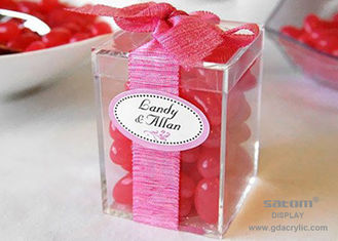 China Custom Acrylic Candy Display Box , Food Grade Gift Packing Boxes supplier