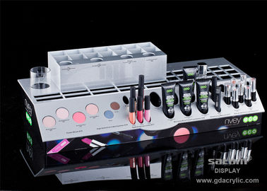 China Acrylic Cosmetic Makeup Organizer , Comprehensive Multiple Display Shelf ,Three-side Graphic supplier