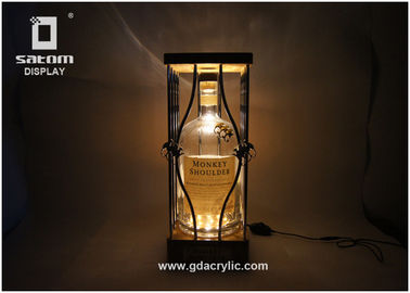 China Adjustable Brightness Bottle Glorifier Natural Bamboo Metal Product Glorifier supplier