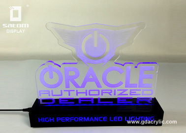 China Attractive High Tech RGB Lighting Led Acrylic Signs Multicolor RoHs Approved supplier