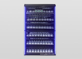 Good Quality Custom Neon Signs & Illuminated Led Lighting Metal Large Cigarette Display Rack With Advertising Pictures And Cabinet on sale