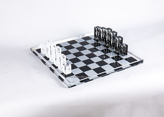 Good Quality Custom Neon Signs & Wholesale Creative Black White Printing Clear Crystal Acrylic Chess Set on sale