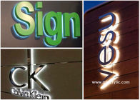 China Metal / Acrylic Illuminated Stainless Steel Signs Professional Production Advice factory