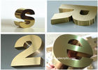 China Titanize / Brass Color Stainless Steel Signs Eco Friendly With 12 Years Experience factory