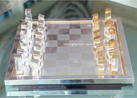 15mm High End Lucite Handmade Lucite Acrylic Board Games Chess Set