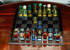 China Custom Transparent Colorful Import Lucite Acrylic Chess Set factory