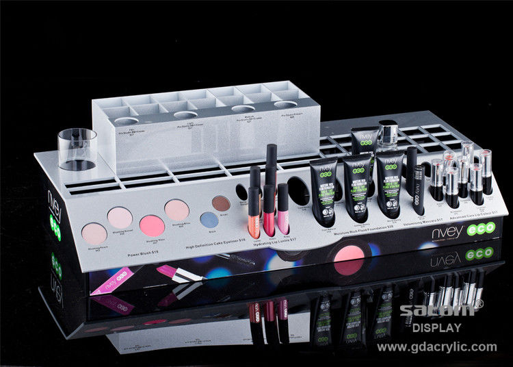 Acrylic Cosmetic Makeup Organizer , Comprehensive Multiple Display Shelf ,Three-side Graphic