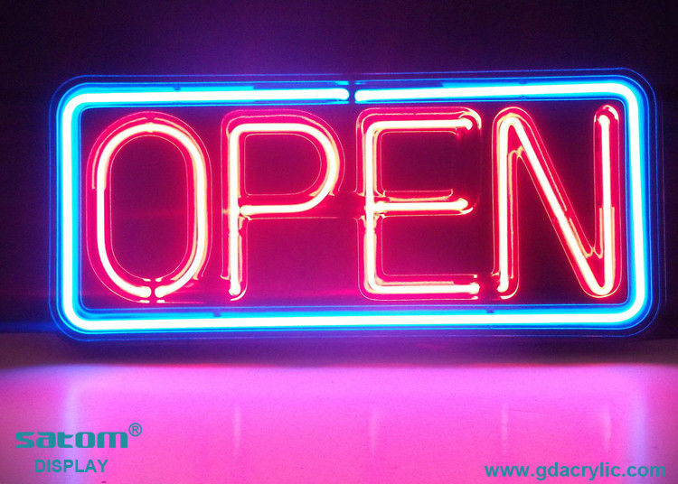 Classical Square Retro Style Custom Neon Open Sign For Brand Display