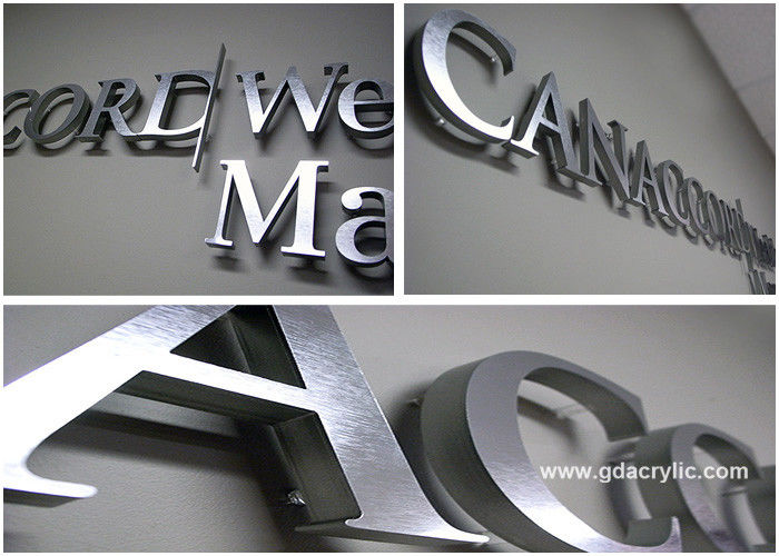 Wall mounted 3d stainless steel decorative metal letters for advertising