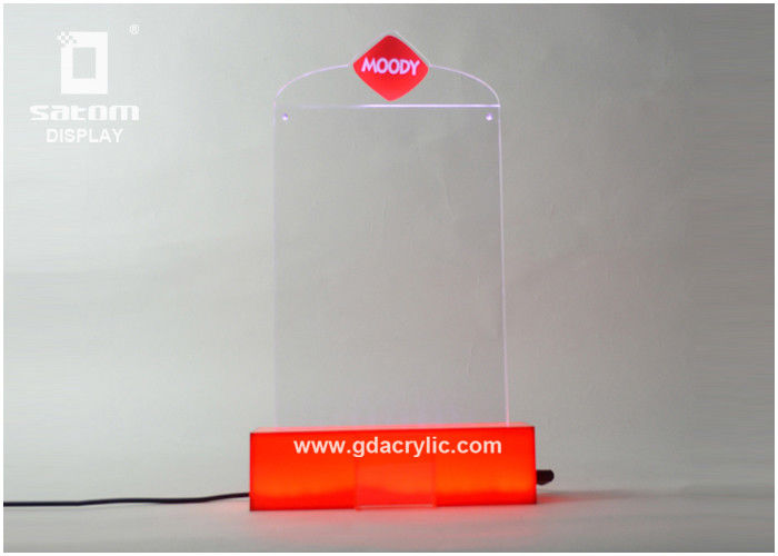 Led Counter Top Restaurant Menu Holders Table Card Display XxMm - Restaurant table top sign holders
