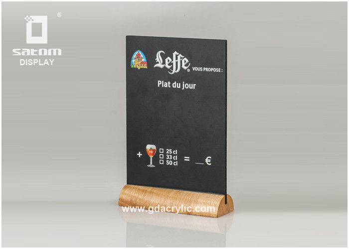 Restaurant Menu Holders Table Tent Holders Writing Natural Wood Leffe Beer
