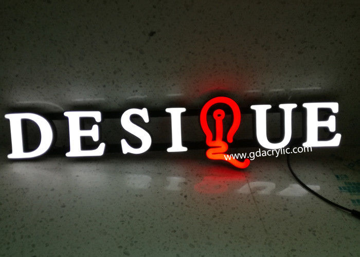 Custom Adjustable Brightness Neon Light Letters In Supermarket / Shop