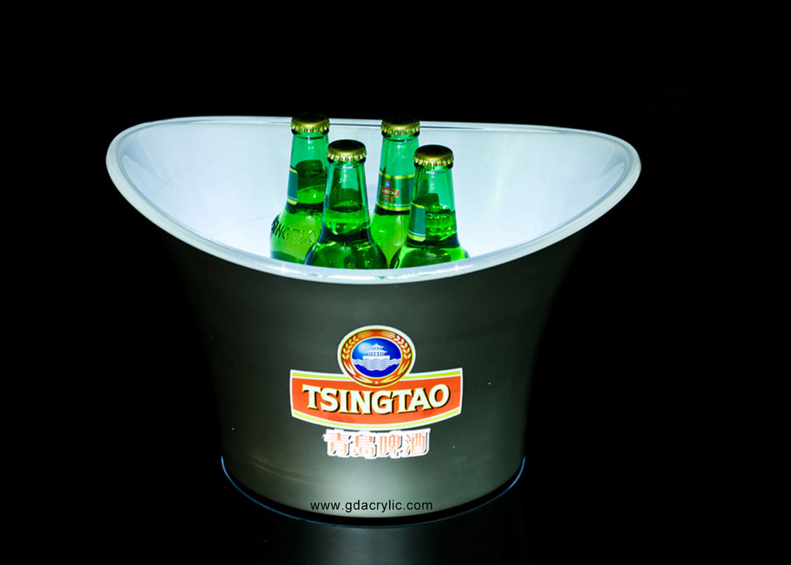 Customized Plastic Large Capacity Ice Bucket for Beer with  rechargeable battery