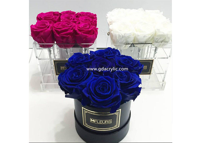 7 Days Arrange Shipping Wholesale Acrylic Rose Box Round Flower Display Box