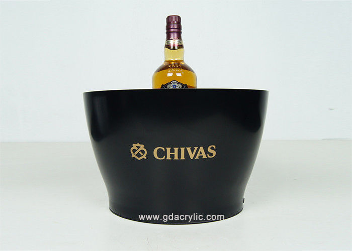 Custom Acrylic Plastic Gold Club Beer Lighting Black- Ice Bucket