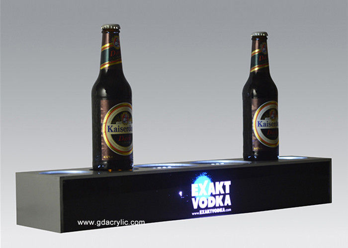 Liquor Bottle Stand Acrylic Signs Lively Vacuum Forming Bottle Image Display