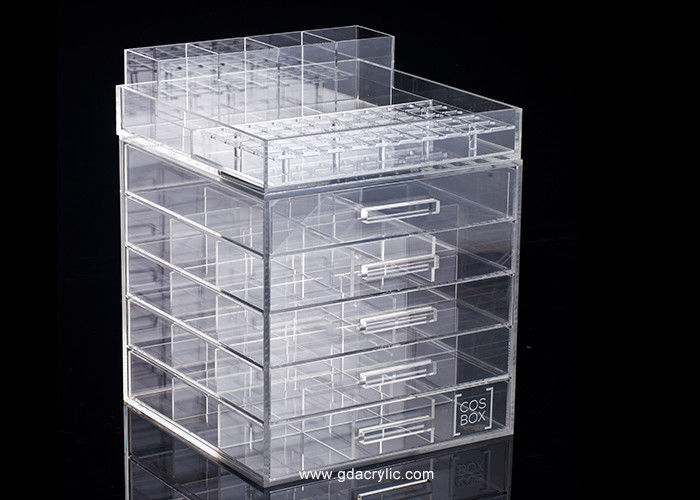 Classic 5 drawers Acrylic Cosmetic Makeup Organizer Detachable Structure