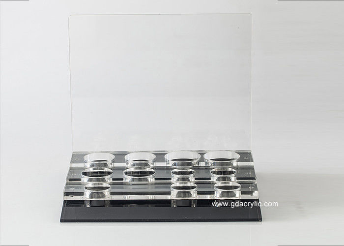 Retail Acrylic Cosmetic Makeup Organizer For Cosmetic Bottle /Jar Display