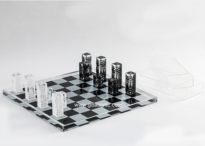 Diverse Color Lucite Chess Backgammon Chess Sets For Sale , Small MOQ