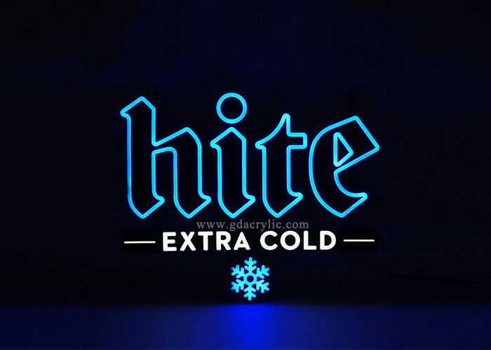 100% Achieve Vivid Snowflake Pattern Extra Cold Hite Beer Advertising Neon Sign