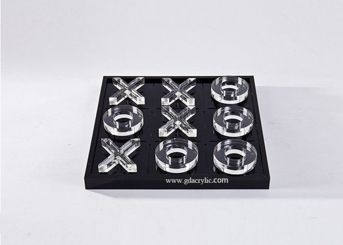 Transparent Lucite Acrylic Custom Engraving Logo Tic Tac Toe Game Board