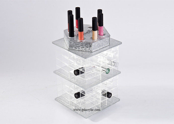 Customized Color White Pink Green Acrylic Lipstick Display Storage Oraganizer