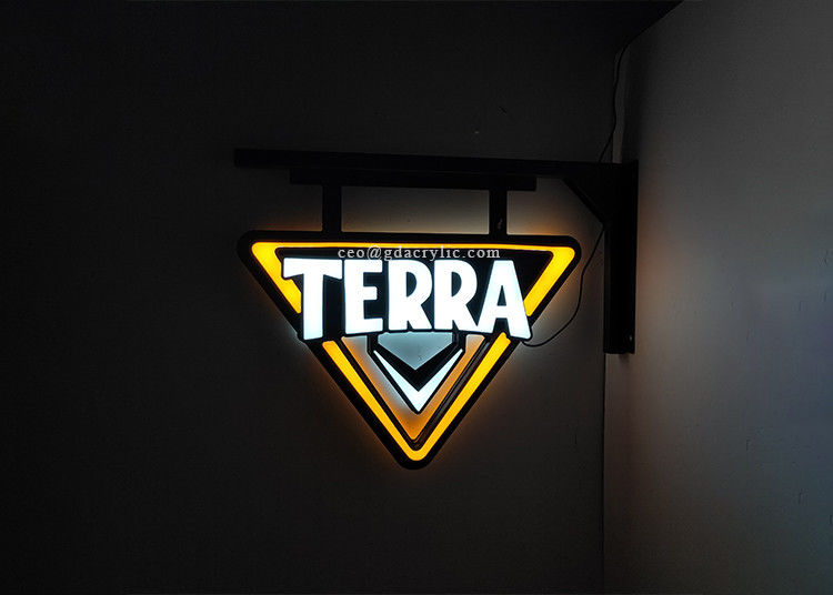 Wall Mounted Outdoor Use Double-Side Lighted Personalised Neon Bar Signs