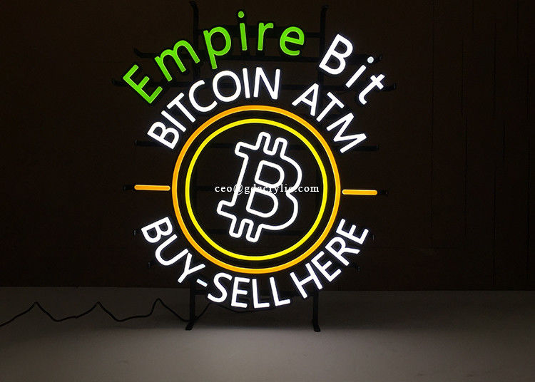5 Year Warranty Bitcoin ATM Advertising Display Custom Made Neon Signs
