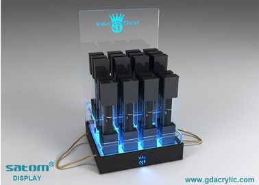 Tabletop Acrylic Cigarette E Liquid Display Rack With Gorgeous Lighting