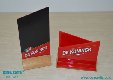 Wood And Acrylic Restaurant Menu Holders, Special Custom Irregular Shape