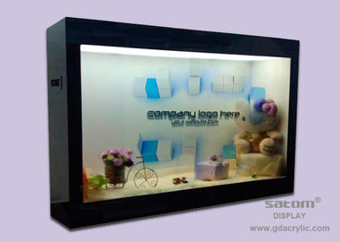 Smart Transparent LCD Display Screen , Play With Image / Music / Video