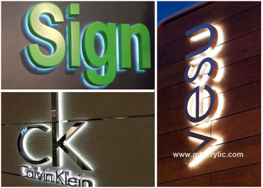 Metal / Acrylic Illuminated Stainless Steel Signs Professional Production Advice