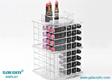 Free Personalized Logo Spinning Acrylic Lipstick Tower Exquisite Package