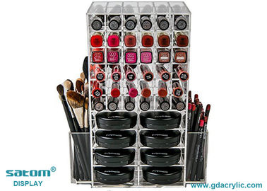 Free Logo Clear Spinning Lipstick Holder Acrylic Make Up Storage Organizer Small MOQ