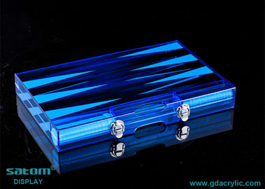 Diverse Color Lucite Chess Backgammon Sets For Sale , Small MOQ