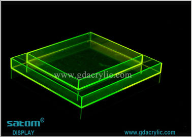 Customization Round / Square / Rectangular Acrylic Serving Tray Various Color