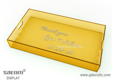 Customized Rectangular Acrylic Serving Tray With Free Pattern Printed