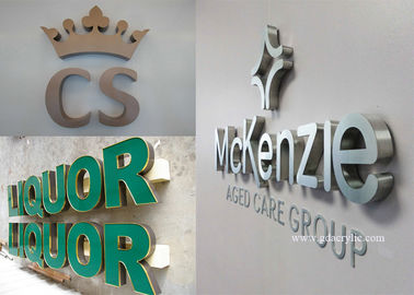 Brushed / Polished Stainless Steel Signs Size Personalised , Free Design