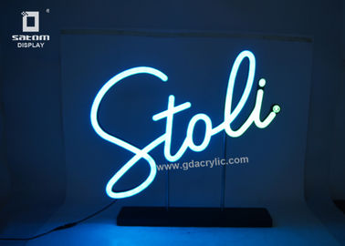 Flexible Personalized / Custom Neon Signs Counter Type Eye - catching Logo