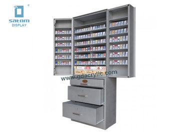 Supermarket Top Rated Removable Cigarettes Display Cabinet For Brand Promotion